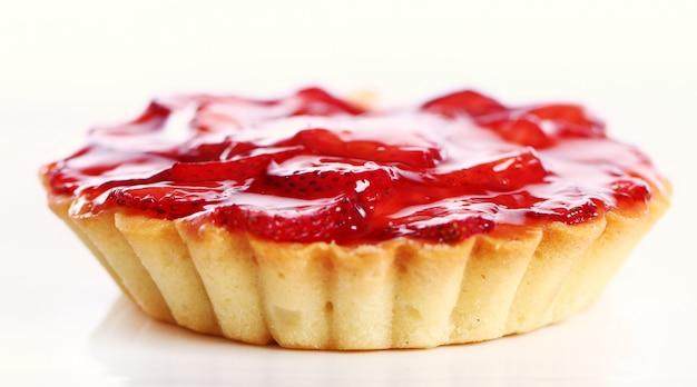 Verse en smakelijke aardbeientaart