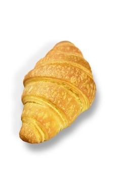 Verse en smakelijke croissant op witte achtergrond
