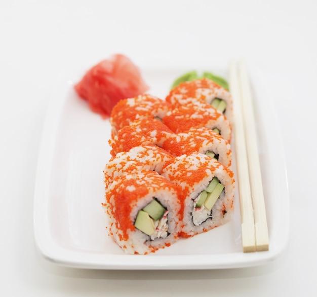 Verse en smakelijke sushibroodjes