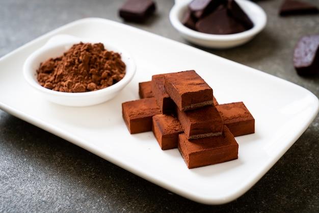 Verse en zachte chocolade