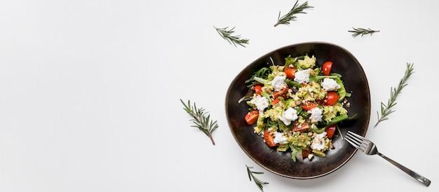Verse gezonde salade kopie ruimte