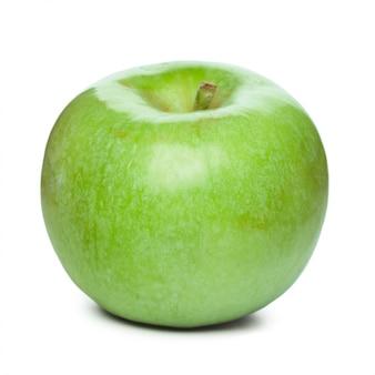 Verse groene appel geïsoleerd op een witte achtergrond