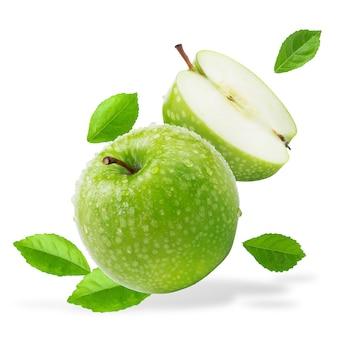 Verse groene appel op wit