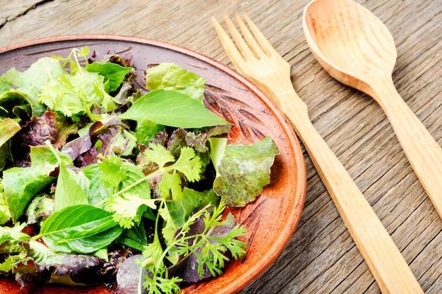 Verse groene salade