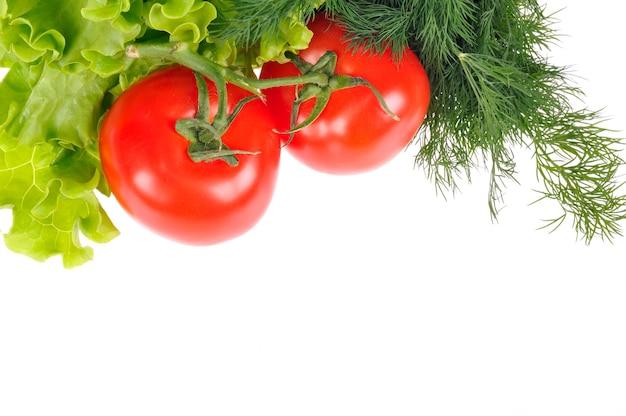 Verse groente geïsoleerd op witte ruimte