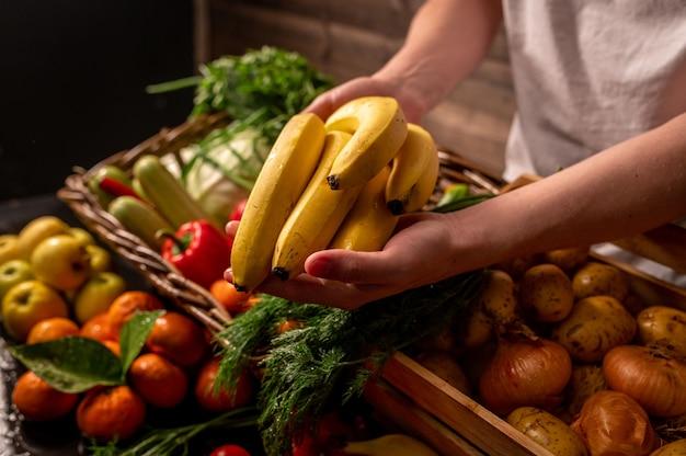 Verse groenten en fruit boerderijproducten biologische producten foto van hoge kwaliteit