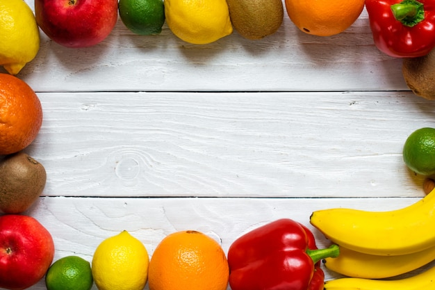 Verse groenten en fruit voor een gezonde voeding