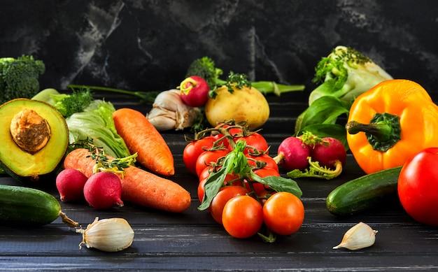 Verse groenten en fruit.