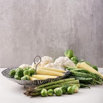 Verse groenten klaar om te koken
