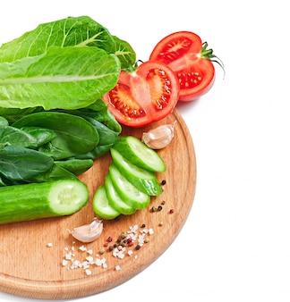 Verse groenten op wit