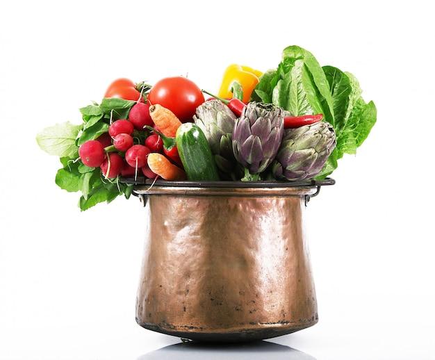 Verse groentepot