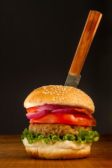 Verse hamburger Premium Foto