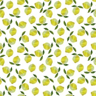 Verse heldere gele citroenen met bladeren