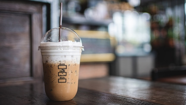 Verse iced cappuccino-koffie