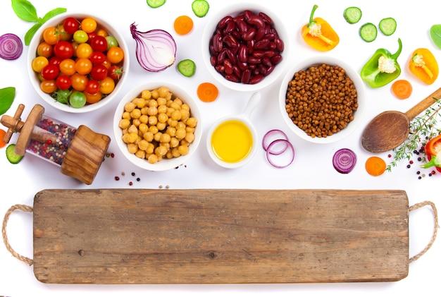 Verse ingrediënten voor het koken