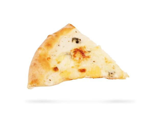 Verse italiaanse klassieke originele pizza geïsoleerd op een witte achtergrond