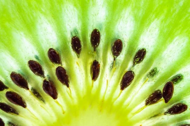 Verse kiwi's plakjes close-up macro textuur achtergrond