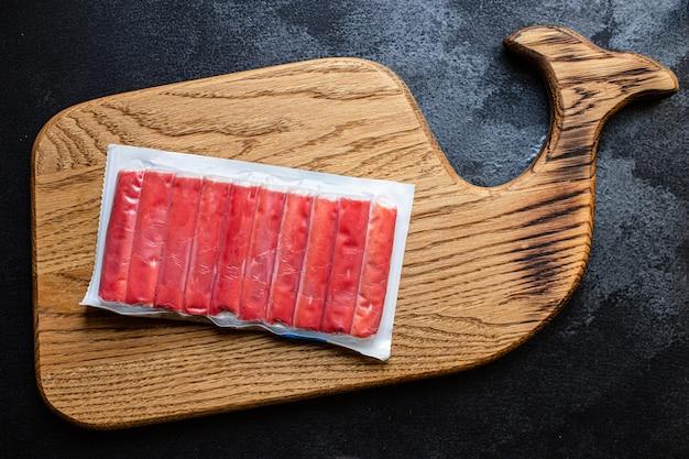 Verse krabstokken zeevruchten halffabrikaten vis gehakt dieet pescetarian
