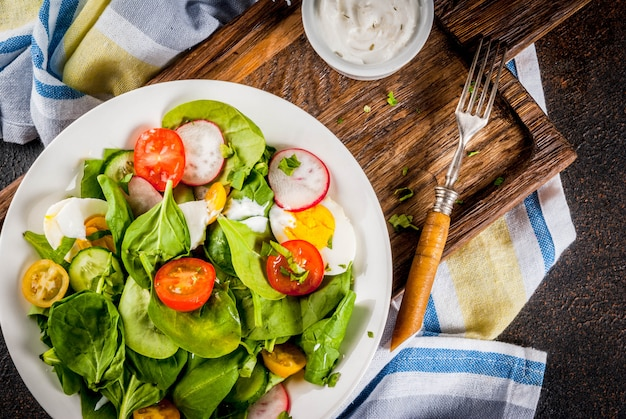 Verse lente groentesalade