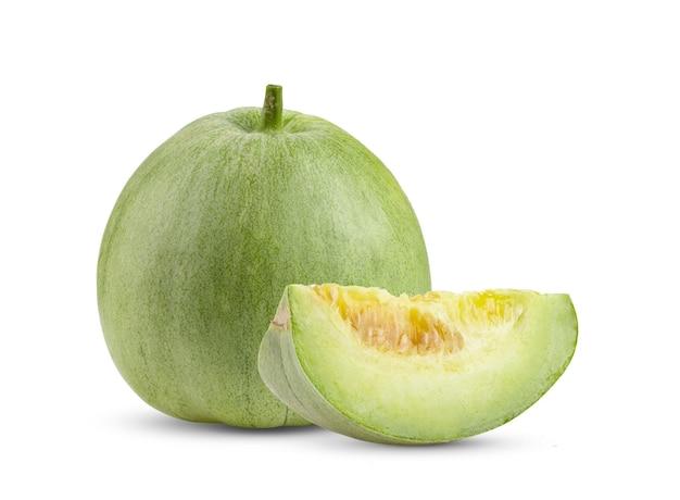 Verse meloen geïsoleerd op een witte achtergrond