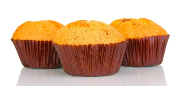 Verse muffins geïsoleerd op wit
