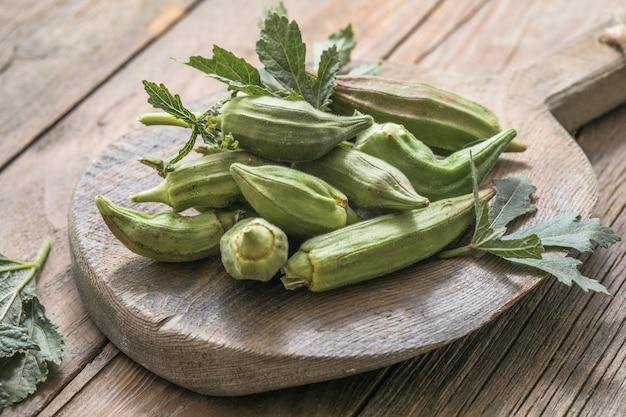 Verse okra of lady finger groente