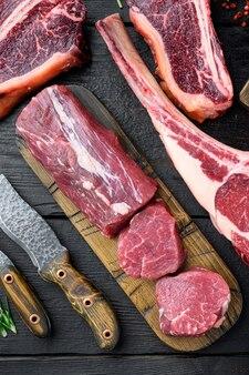 Verse rauwe biefstuk mignon geheel gesneden set