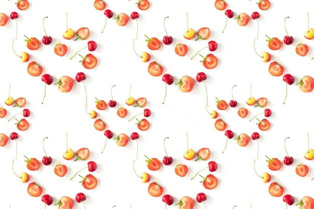 Verse rauwe organische seizoensgebonden fruit bessen patroon