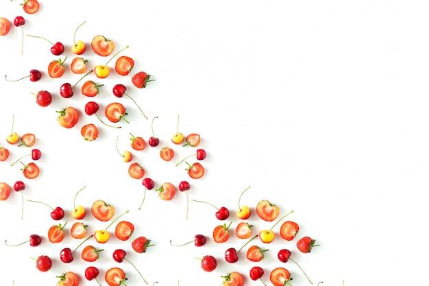 Verse rauwe organische seizoensvruchten bessen