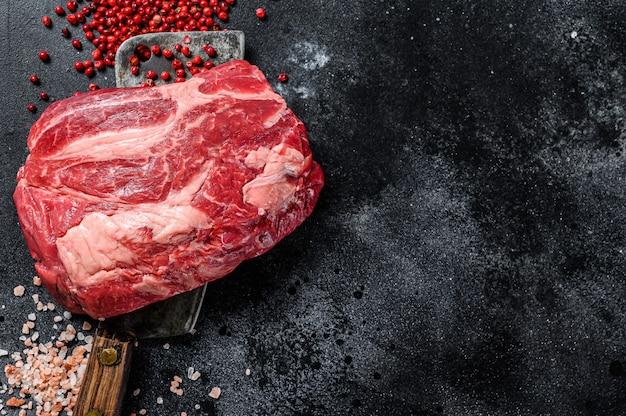 Verse rauwe rundermarmer steak.