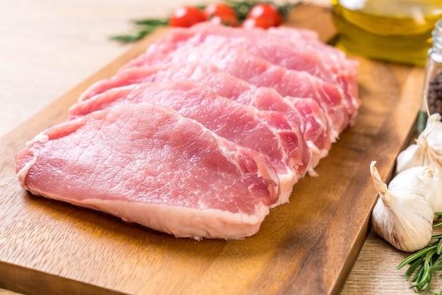 Verse rauwe varkensfilet