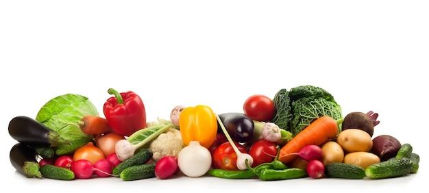Verse rijpe groenten geïsoleerd