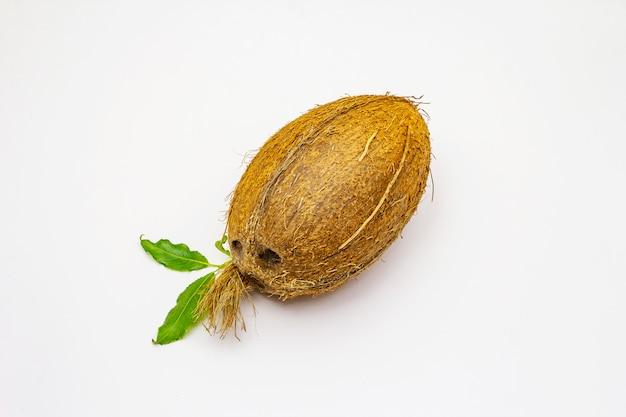 Verse rijpe kokosnoot geïsoleerd