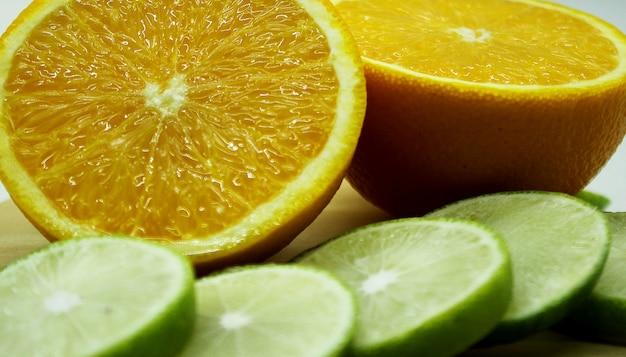 Verse sinaasappel en citroen fotoachtergrond 10