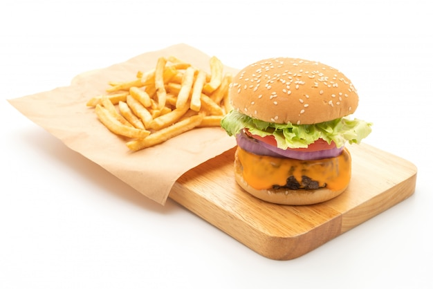 Verse smakelijke rundvleesburger met kaas