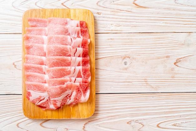 Verse varkenshaas in plakjes gesneden