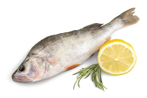 Verse vis geïsoleerd op wit