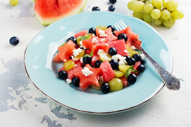 Verse watermeloen salade met feta
