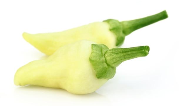 Verse witte chili geïsoleerd op witte achtergrond