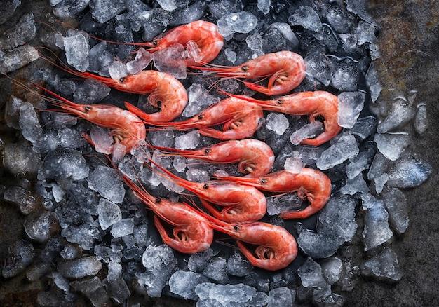Verse zeevruchten garnalen