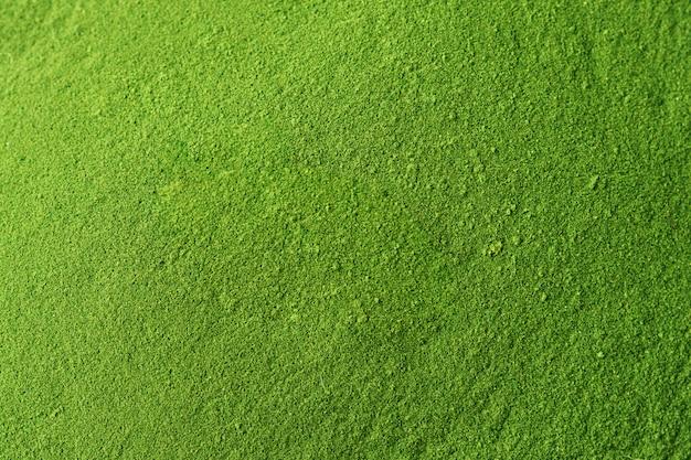 Versnipperde spirulina- of chlorella-textuur.