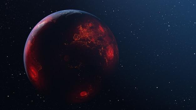 Verspreiding van het virus over de hele wereld van planeet aarde