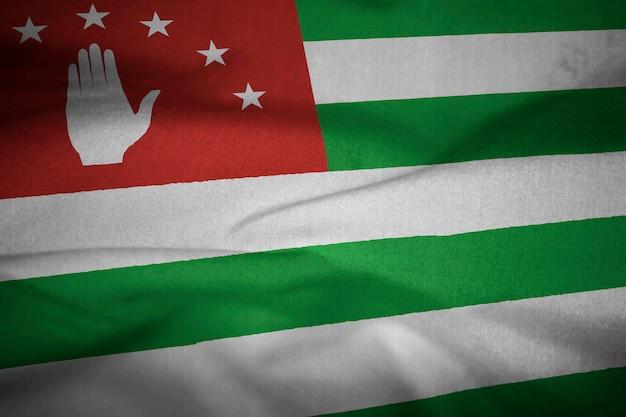 Verstoorde vlag van abchazië waait in de wind