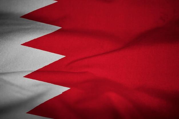 Verstoorde vlag van bahrein waait in de wind