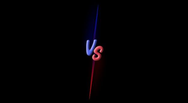 Versus vs strijd strijd schermachtergrond 3d