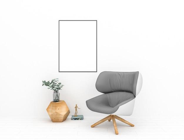 Verticaal frame in skandinavisch binnenland