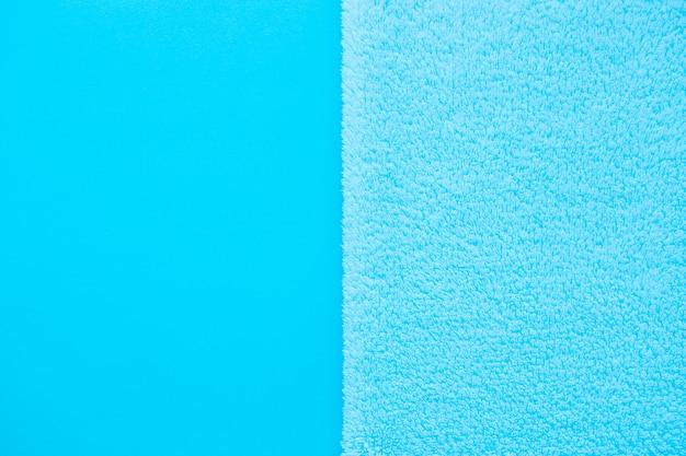 Verticale achtergrond van twee soorten blauwe stof