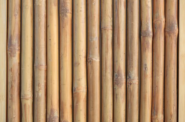 Verticale bamboe hek muur achtergrond.