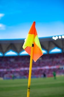 Verticale voetbal hoek vlag