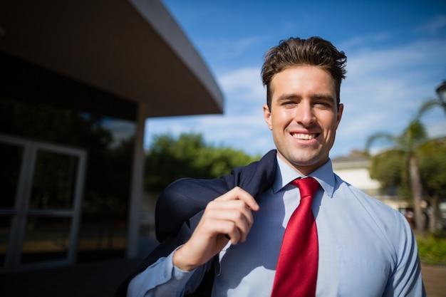Vertrouwen zakenman glimlachen